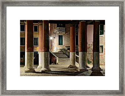 Rome Or Venice Framed Print by Frozen in Time Fine Art Photography