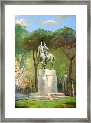Rome Piazza Albania Framed Print