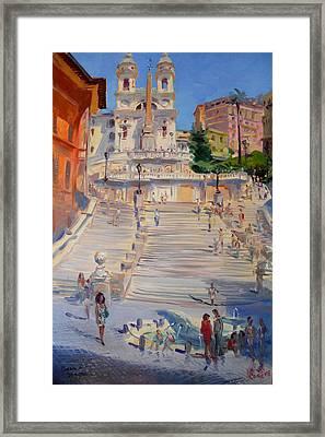 Rome Piazza Di Spagna Framed Print