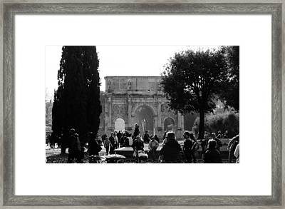 Rome - The Arch Of Constantine 5 Framed Print by Andrea Mazzocchetti