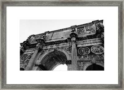 Rome - The Arch Of Constantine Framed Print by Andrea Mazzocchetti