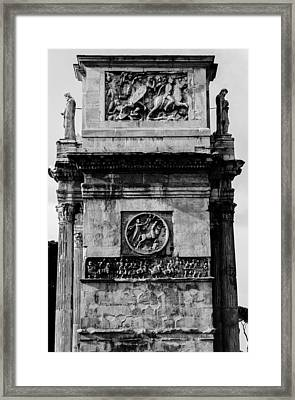 Rome - The Arch Of Constantine Bw Framed Print by Andrea Mazzocchetti