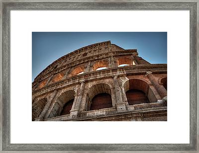 Framed Print featuring the photograph Rome - The Colosseum 003 by Lance Vaughn