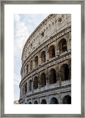 Rome - The Colosseum - A View Framed Print by Andrea Mazzocchetti