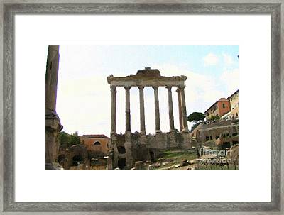 Rome The Eternal City Framed Print