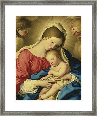Rome The Madonna And Child With Two Putti Framed Print
