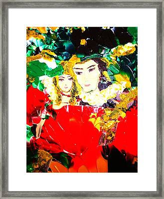 Romeo And Juliet Framed Print by Carmen Doreal