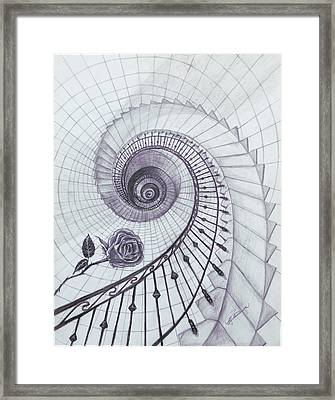 Framed Print featuring the drawing Romeo And Juliet by Elly Potamianos