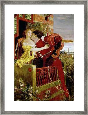 Romeo And Juliet Framed Print by Ford Brown