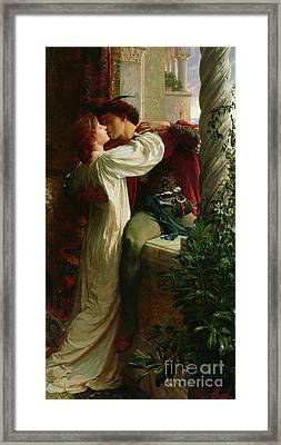 Romeo And Juliet Framed Print by Sir Frank Dicksee