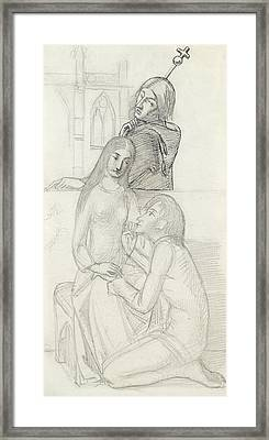 Romeo And Juliet, With Friar Lawrence Framed Print by Simeon Solomon