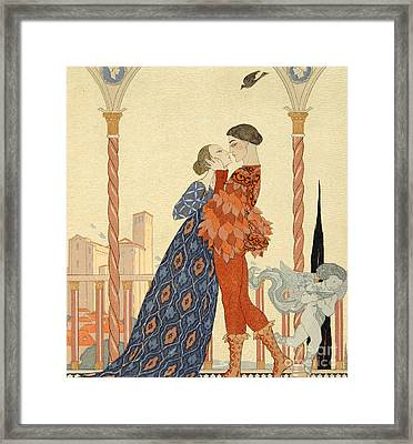 Romeo And Juliette Framed Print by Georges Barbier