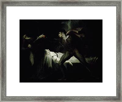 Romeo Stabs Paris At The Bier Of Juliet Framed Print by MotionAge Designs