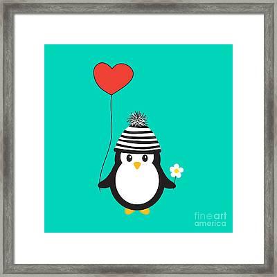 Romeo The Penguin Framed Print by Natalie Kinnear