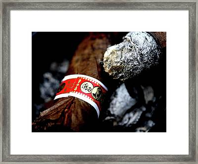 Romeo Y Julieta Cigar Butts 7d5333 Framed Print by Wingsdomain Art and Photography