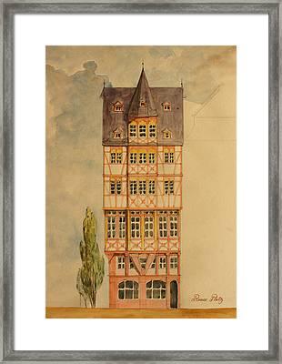 Romer Platz Frankfurt Framed Print by Juan  Bosco