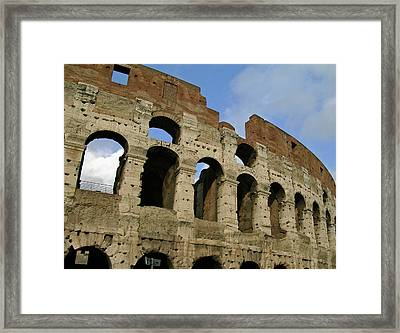 Rome's Colosseum Framed Print by Sandy Taylor