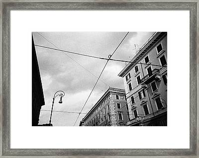 Rome's Downtown Cable Sky Framed Print