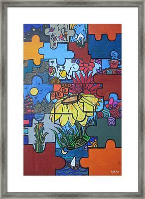 Rompecabezas Framed Print by MikAn 'sArt