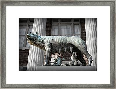 Romulus And Remus Framed Print