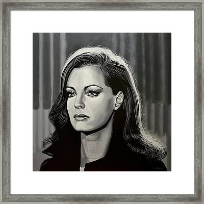 Romy Schneider Framed Print by Paul Meijering