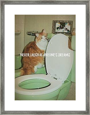 Ron At The Loo Quote Framed Print by JAMART Photography