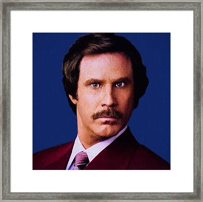 Ron Burgundy Framed Print by Dan Sproul