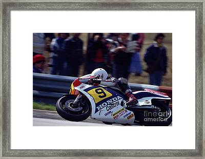 Ron Haslam. 1984 Nations Motorcycle Grand Prix Framed Print