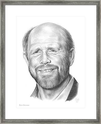 Ron Howard Framed Print by Greg Joens