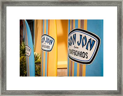 Ron Jon Surf Boards Framed Print by Gary Oliver