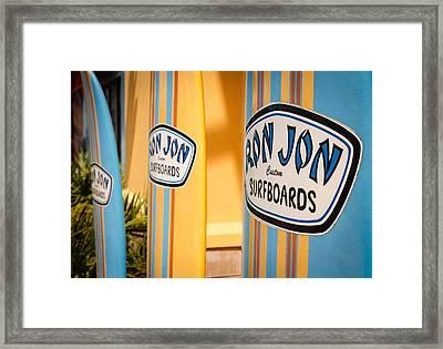 Ron Jon Surf Boards Framed Print