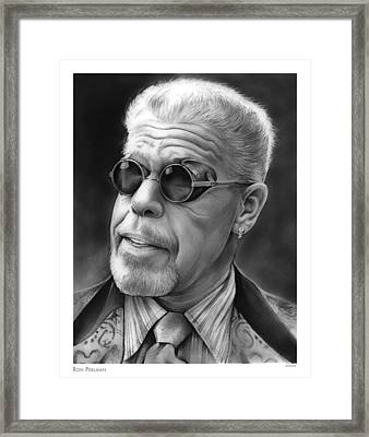 Ron Perlman Framed Print by Greg Joens