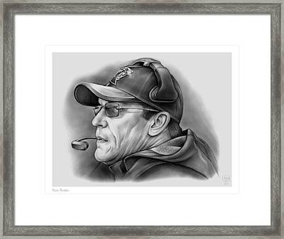 Ron Rivera Framed Print by Greg Joens