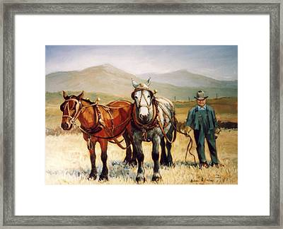 Ron Robison Framed Print by JoAnne Corpany
