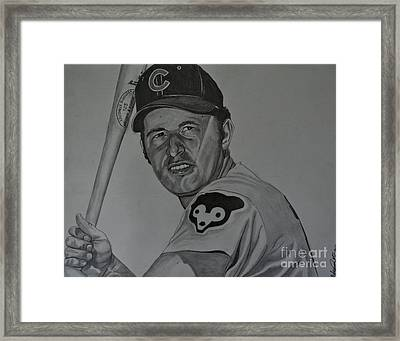 Ron Santo Portrait Framed Print