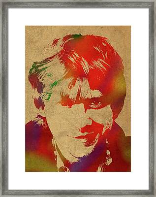 Ron Weasley From Harry Potter Watercolor Portrait Framed Print