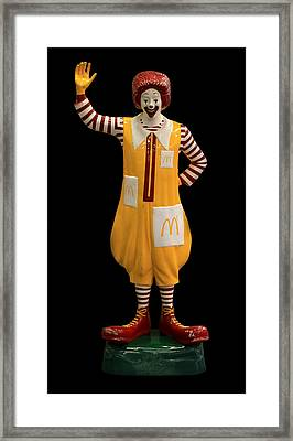Ronald Mcdonald Framed Print by Andrew Fare