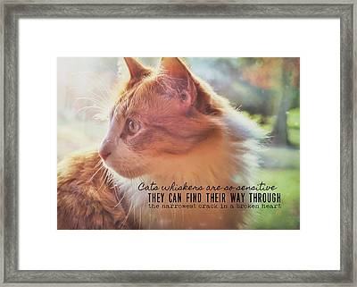 Ronald Quote Framed Print by JAMART Photography
