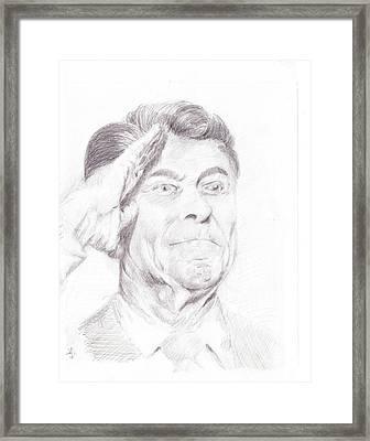 Ronald Reagan Framed Print by James Ath