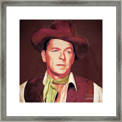 Ronald Reagan The New Marshal Is In Town 20151229 Square Framed Print