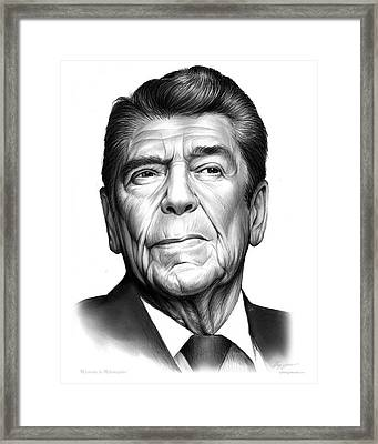 Ronald Regan Framed Print by Greg Joens