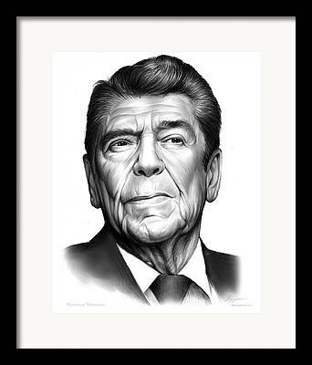 Reagan Drawings Framed Prints