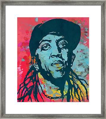 Ronald Slim Williams Pop Art Poser Framed Print by Kim Wang