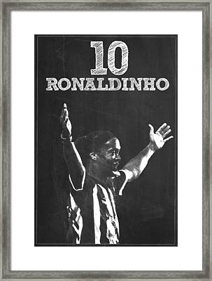 Ronaldinho Framed Print by Semih Yurdabak