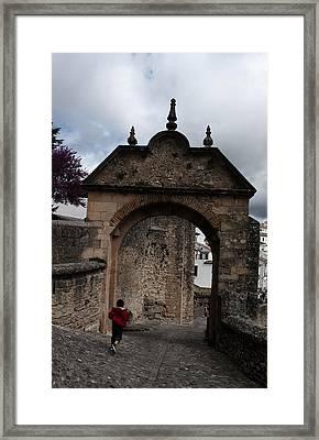Ronda Boy Running Framed Print by Obi Martinez