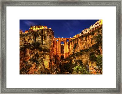 Ronda By Night Framed Print