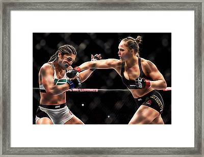 Ronda Jean Rousey  Framed Print by Marvin Blaine