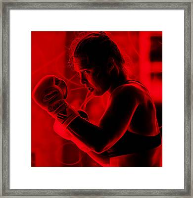 Ronda Jean Rousey Mma Framed Print by Marvin Blaine