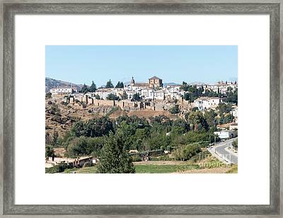 Ronda Old Town Framed Print by Rod Jones