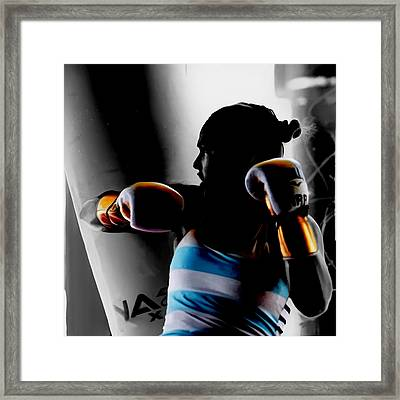 Ronda Rousey Golden Gloves Framed Print by Brian Reaves